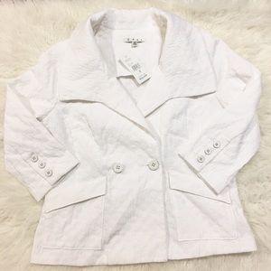 Cabi Outlet Women's White Club Blazer Size Medium